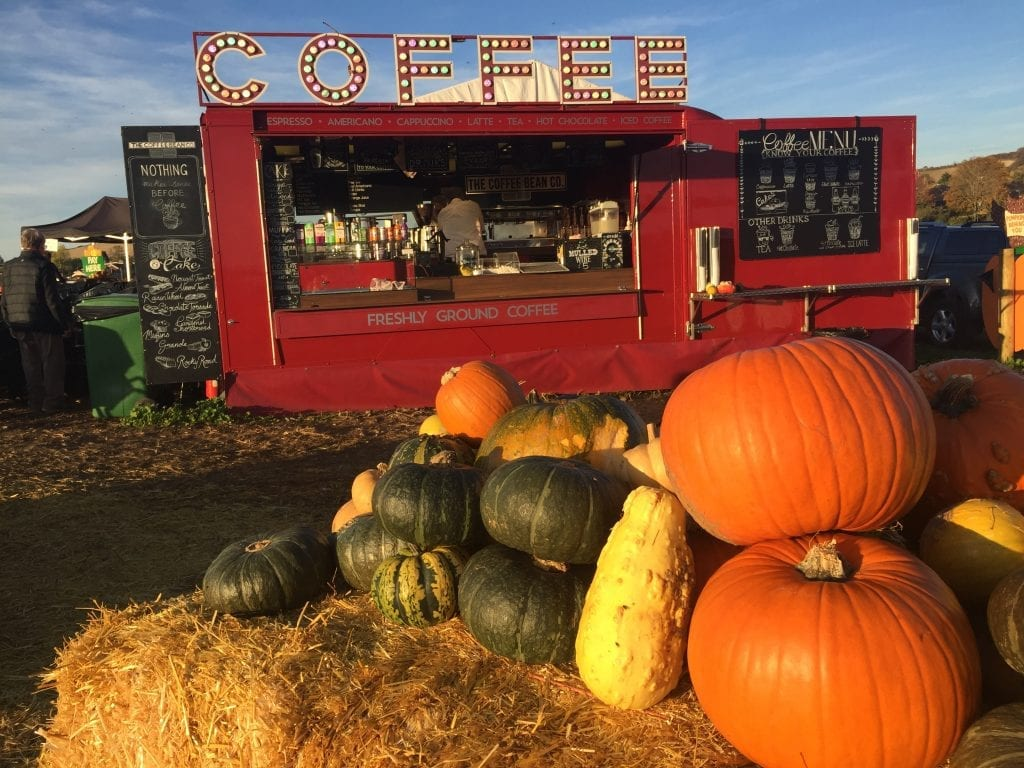 Coffee shop at Pumpkin Picking Patch
